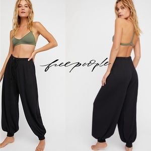 Free People Ready for Ribbed Joggers black NWT
